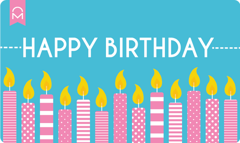 Happy Birthday Candles Gift Card