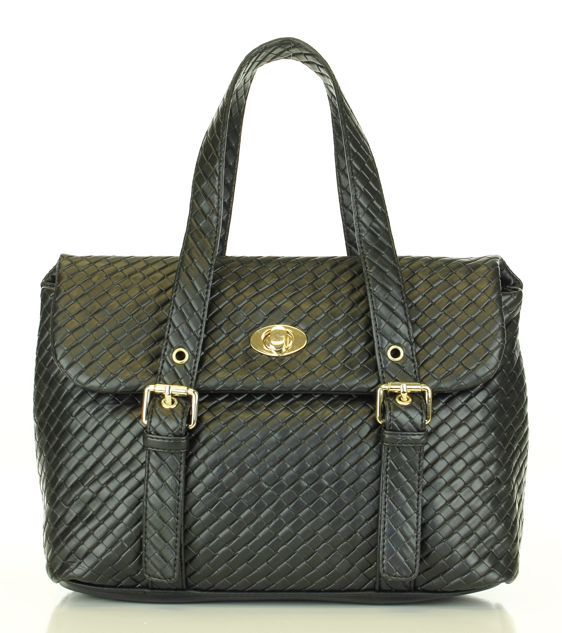 Weave Texture Looker Satchel Handbag