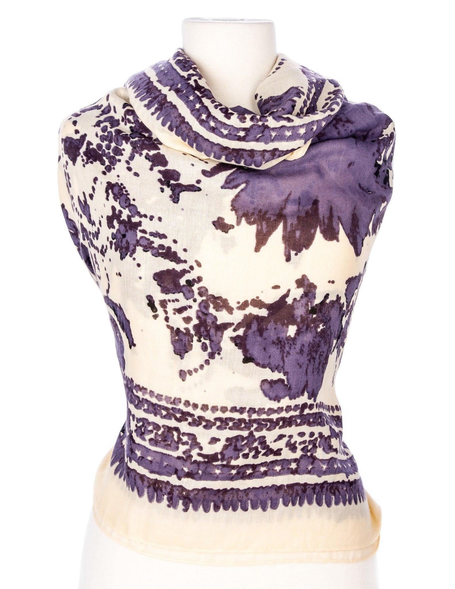 Watercolor Spring Scarf