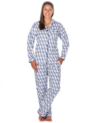 Women's Premium 100% Cotton Flannel Pajama Sleepwear Set (Relaxed Fit)