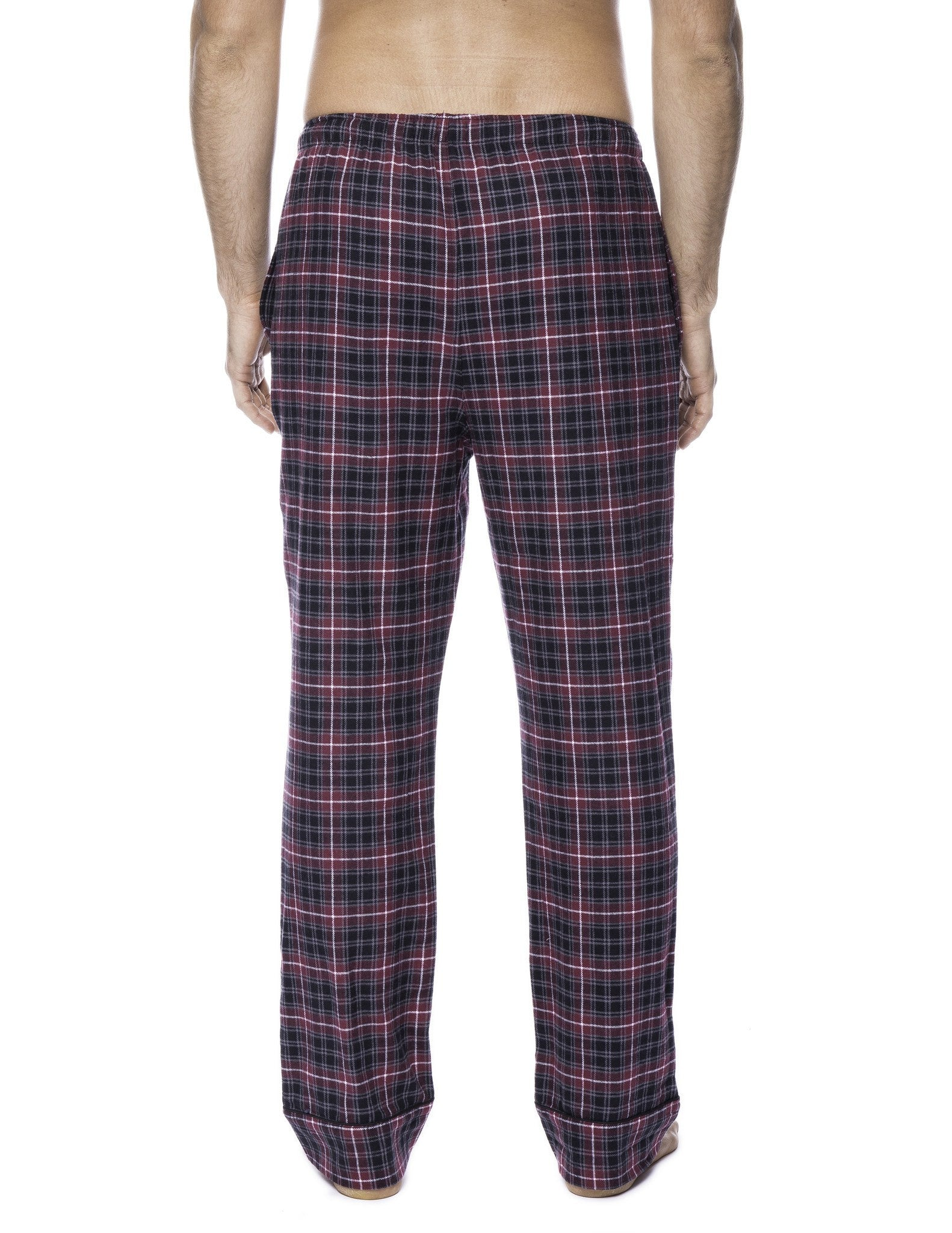 2-Pack (Plaid Burgundy-Grey/Navy-Black)