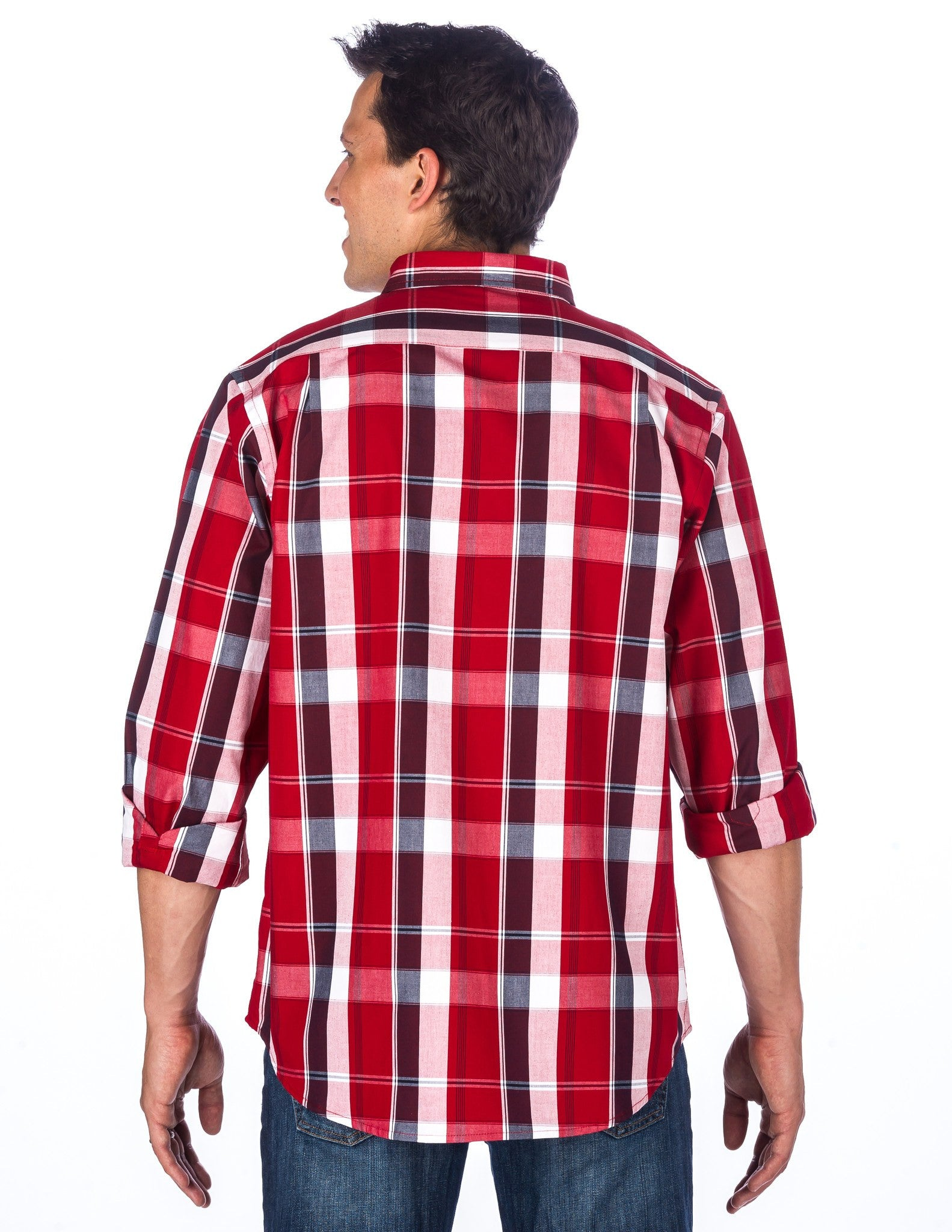 Plaid Red/White/Navy