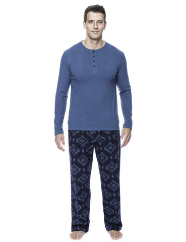Men's 100% Cotton Flannel Lounge Set
