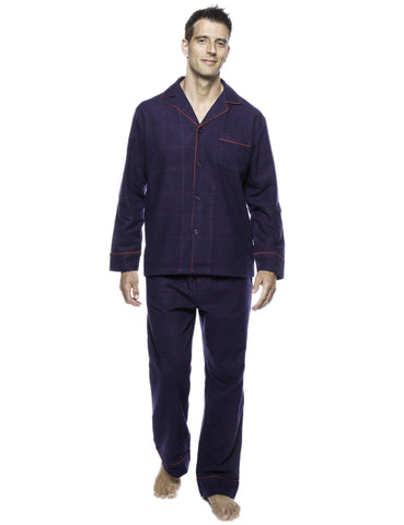 Men's Premium 100% Cotton Flannel Pajama Sleepwear Set