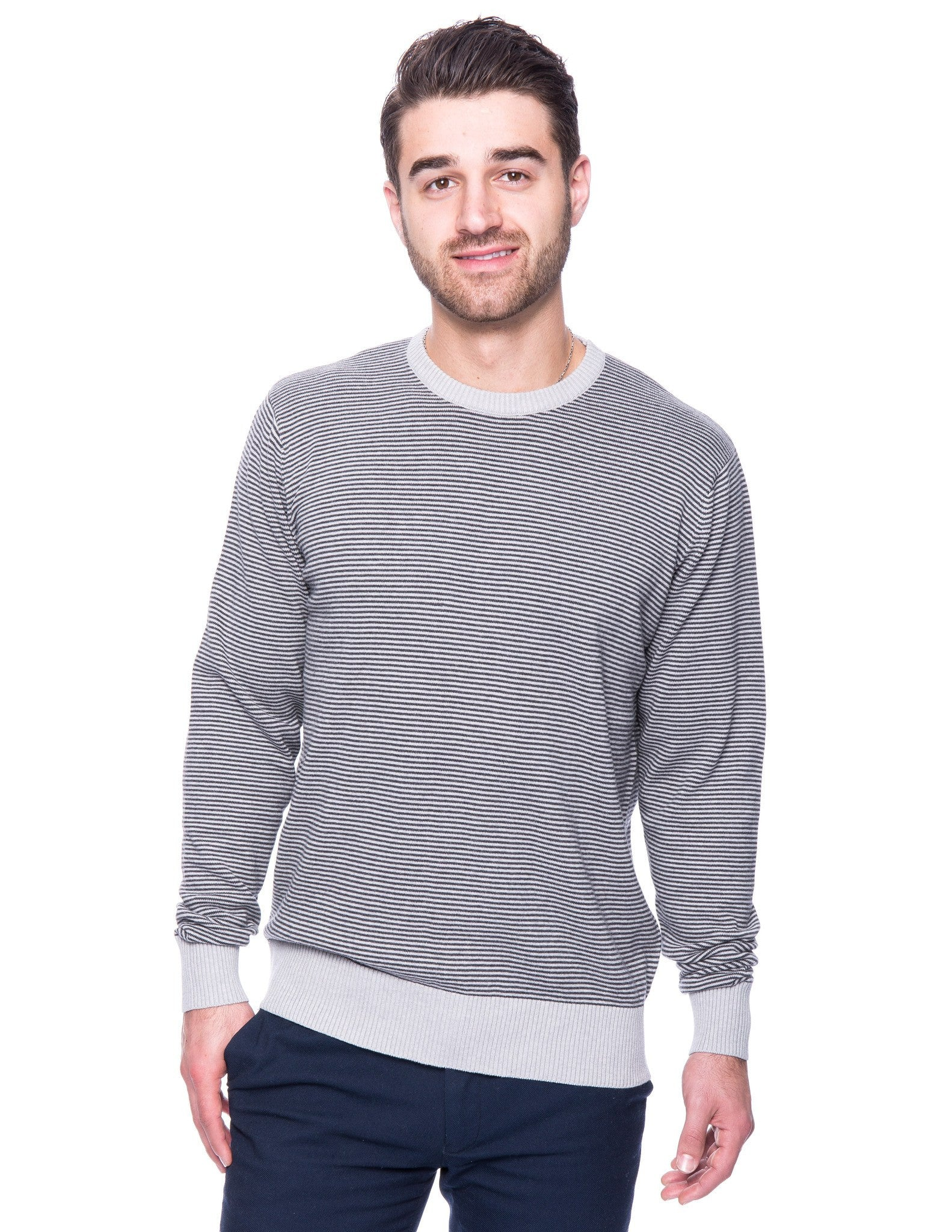 Men's Premium 100% Cotton Crew Neck Sweater