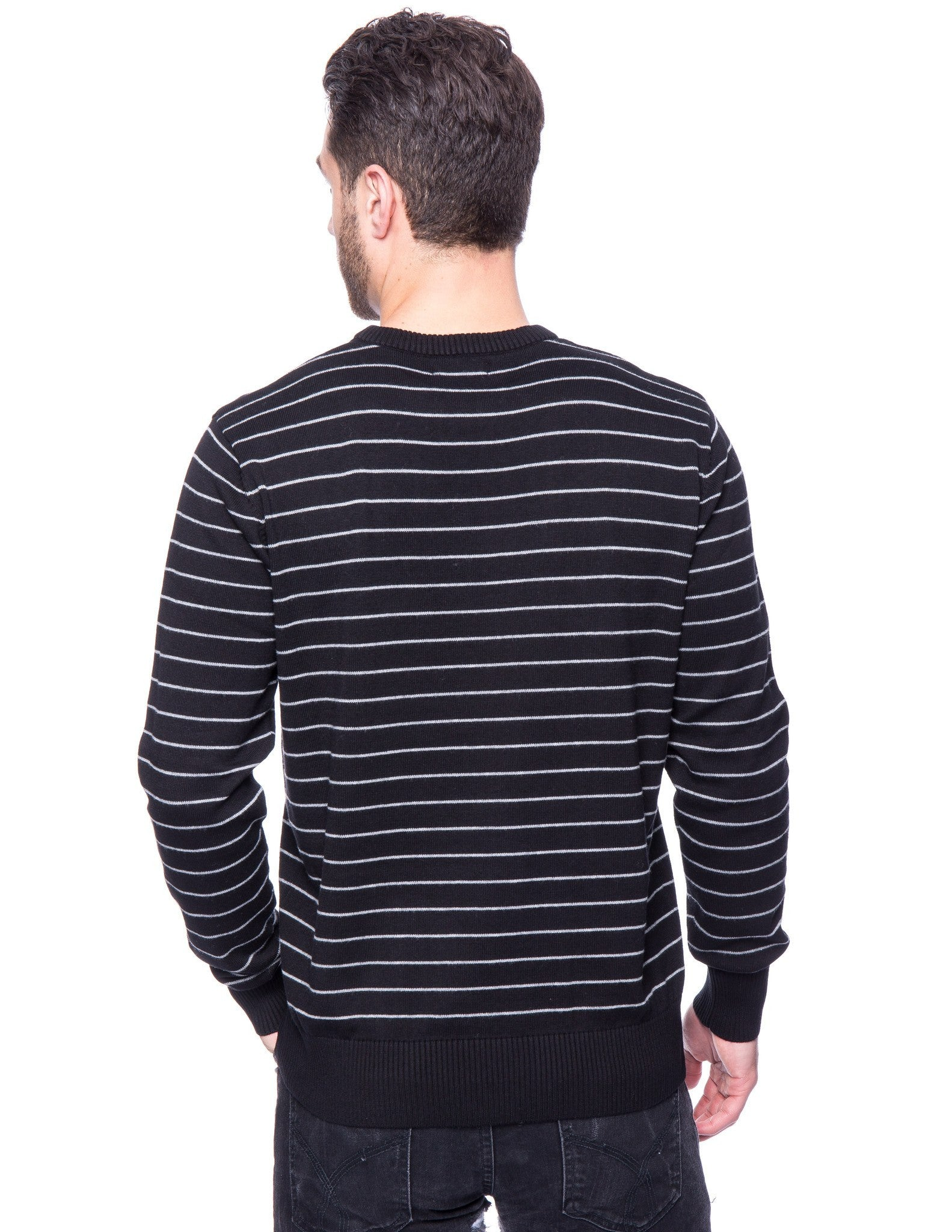 Stripes Black/Heather Grey