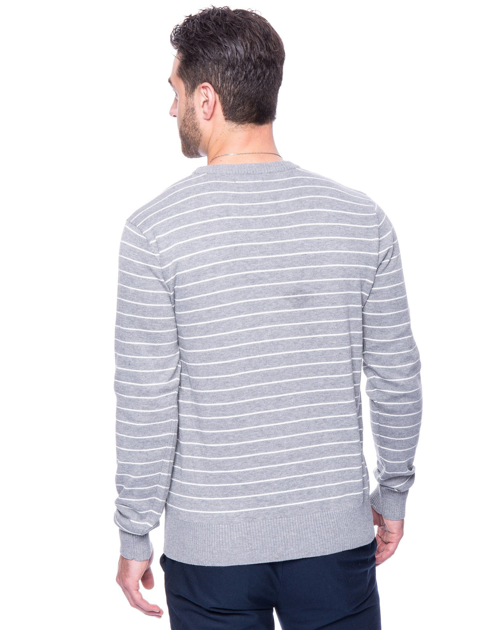 Stripes Heather Grey/Ivory