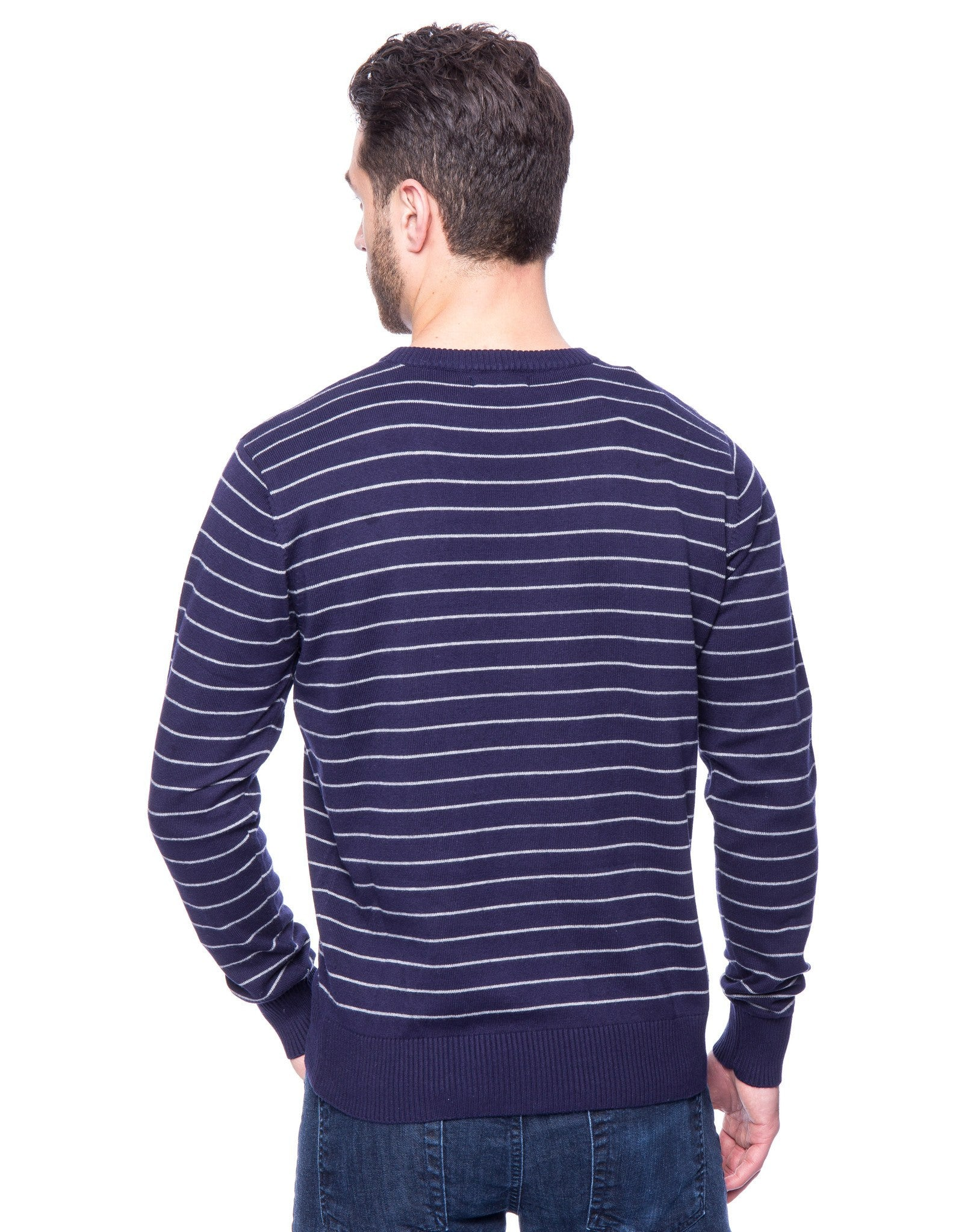 Stripes Navy/Heather Grey