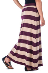 Stripe  - Beige/Burgundy