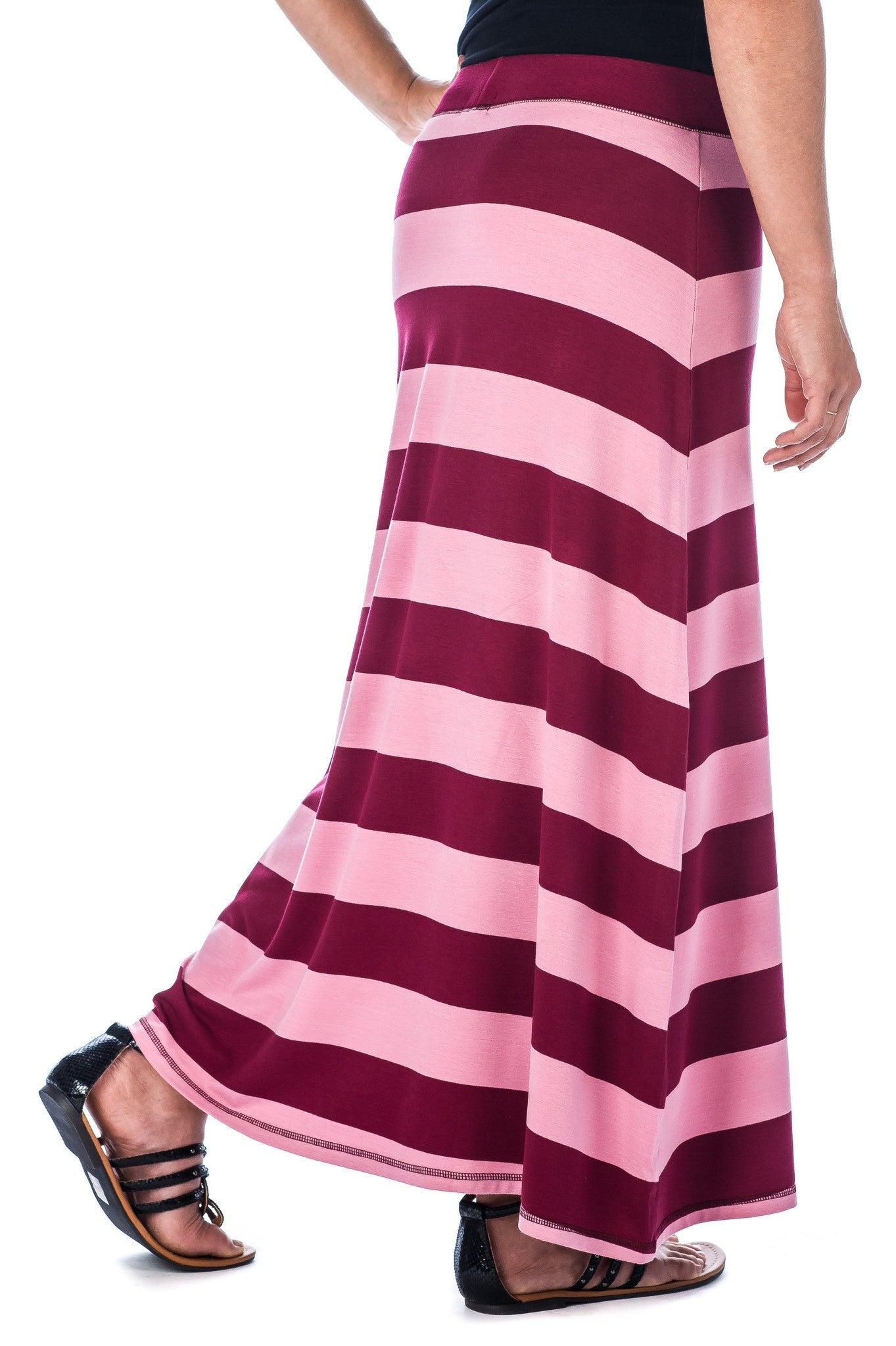 Stripe  - Plum/Rose