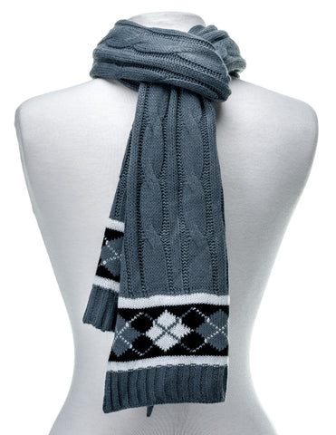 Men's Premium Cable Knit Winter Scarf
