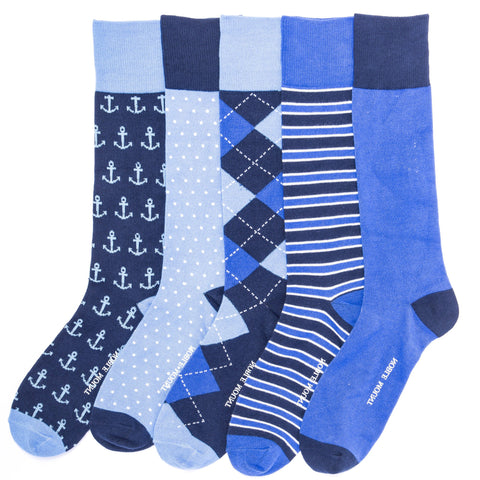 Men's Combed Cotton Weekday Dress Socks 5-Pack