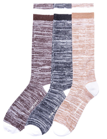 Men's 100% Acrylic Soft Marled Dress Socks 3-Pack