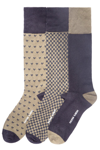 Men's Bamboo Crew Dress Socks 3-Pack