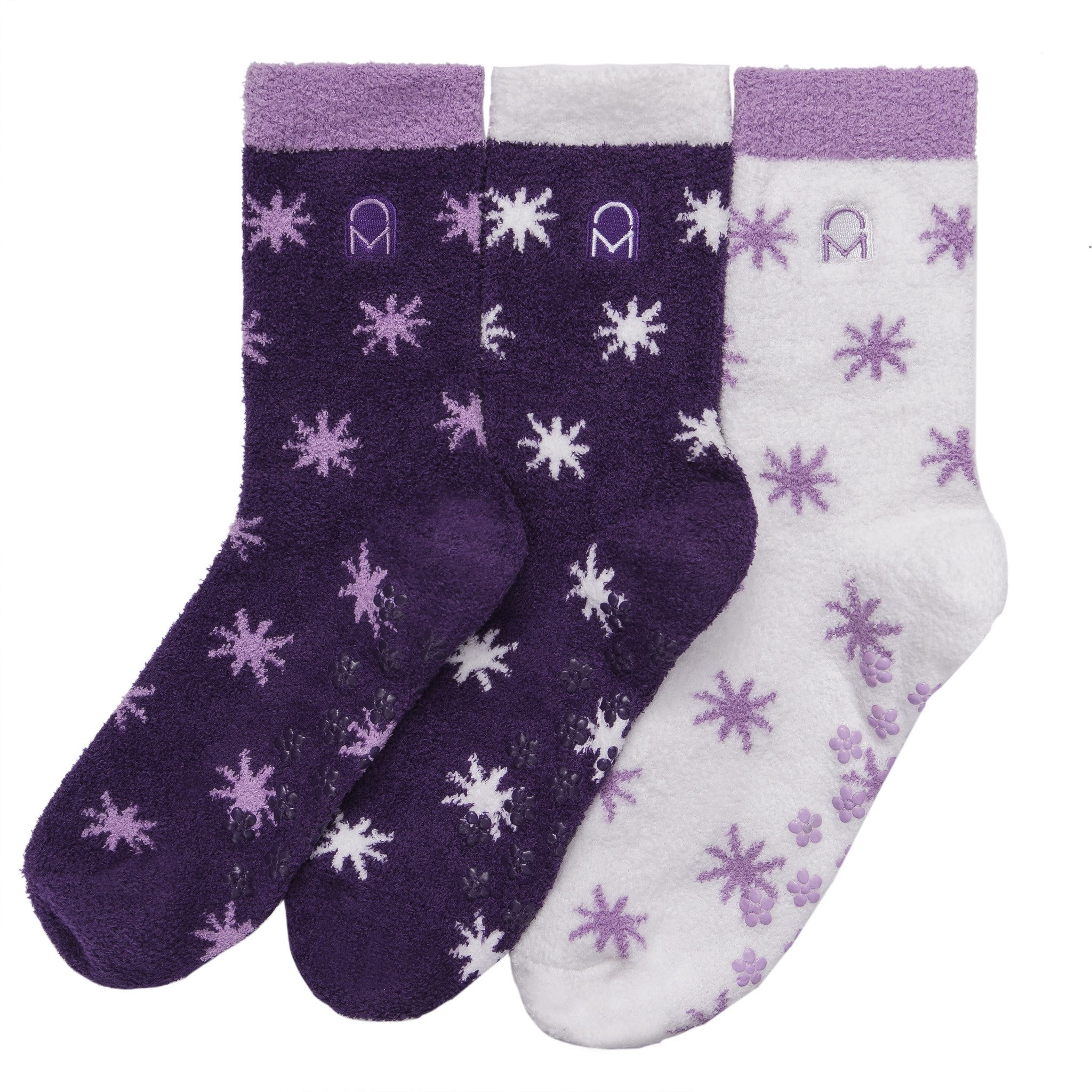 Women's Soft Anti-Skid Micro-Plush Winter Crew Socks