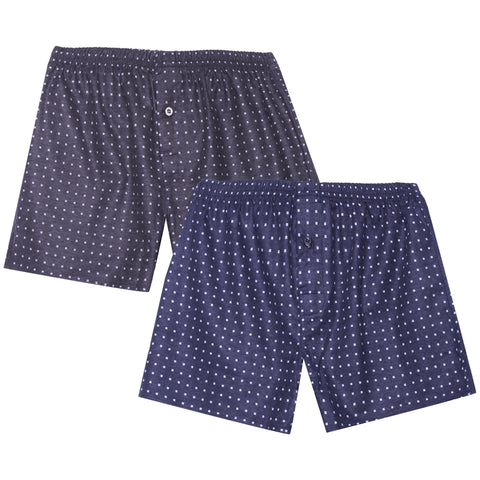 Men's 100% Cotton Flannel Boxers - 2 Pack