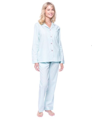 Women's Premium 100% Cotton Poplin Pajama Set