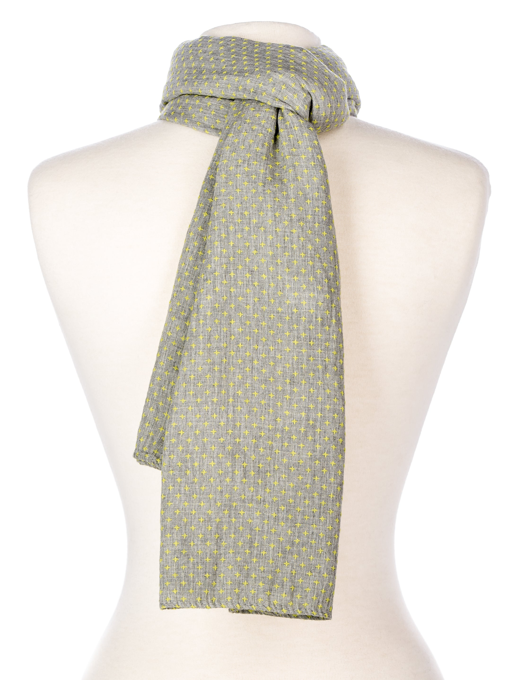 Cross-Stitch Unisex Cotton Summer Scarf