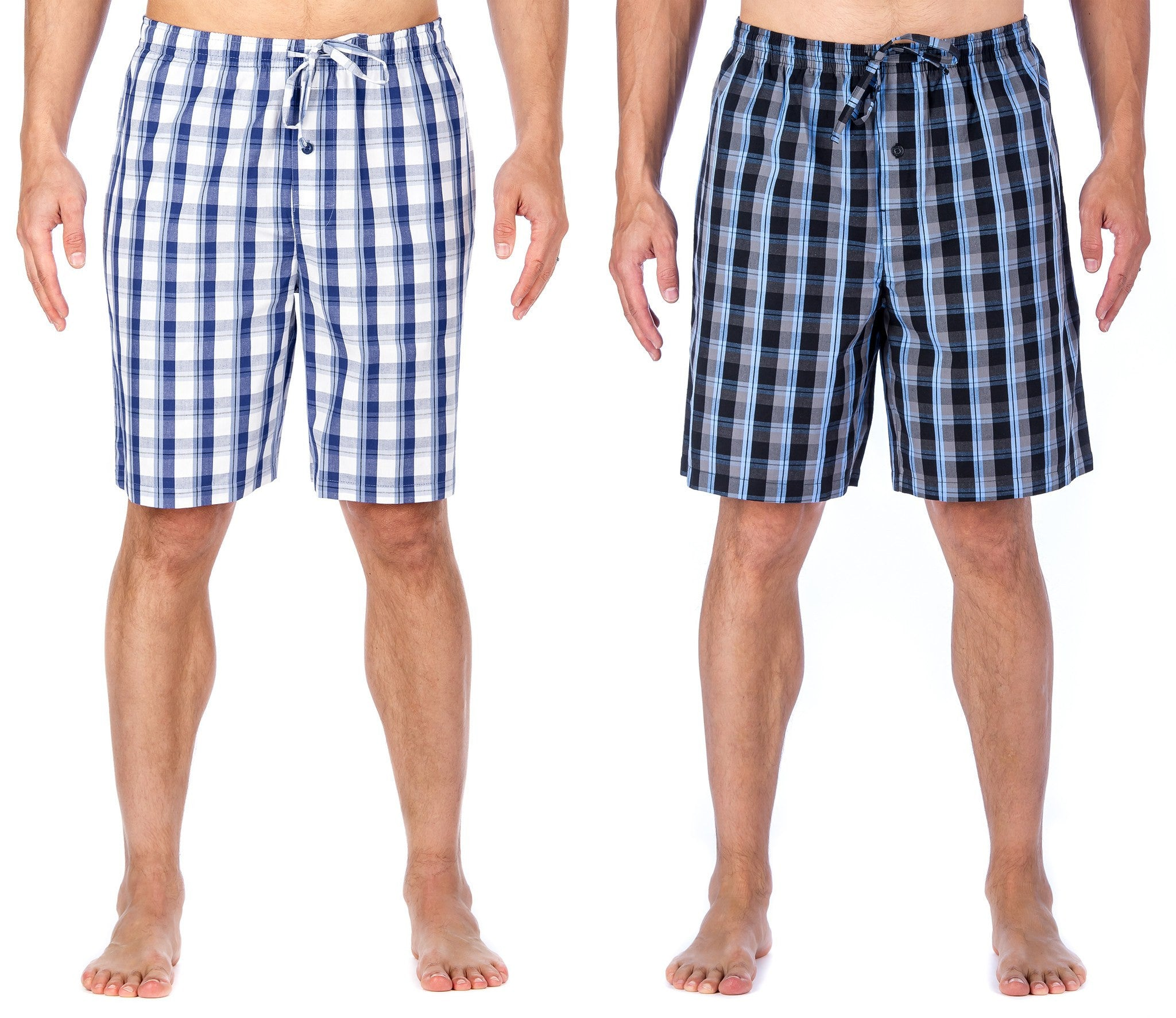 Men's Premium Cotton Sleep Shorts (2-Pack)
