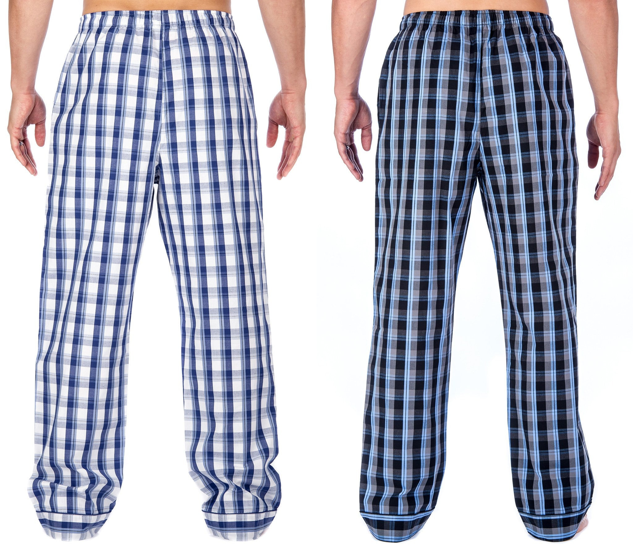 2-Pack (Blue/Grey - Blue/White Plaid)