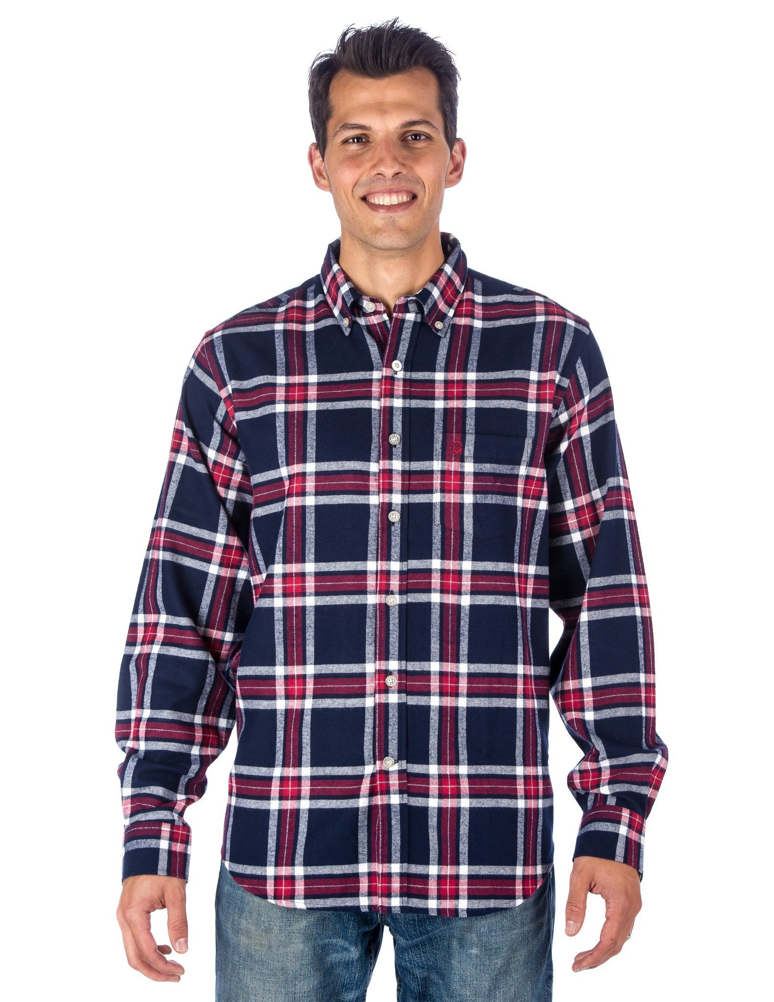 Navy-Red Plaid