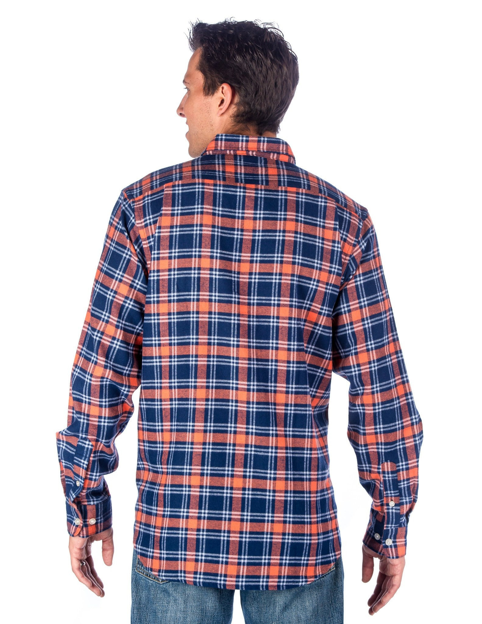 Navy-Rust Plaid