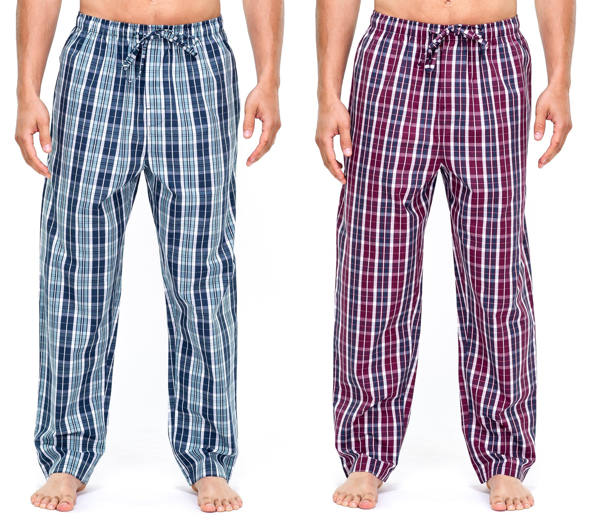 Men's Premium Cotton Lounge/Sleep Pants - 2 Pack