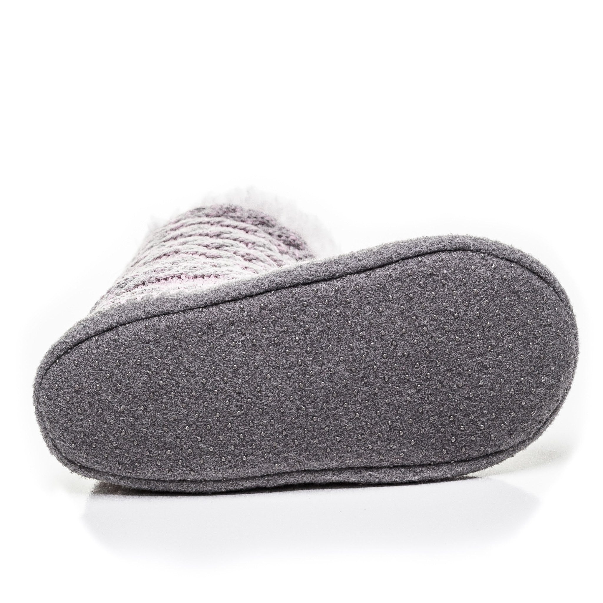 f5eaa8e6aed Women s Cable Knit Button Accent Indoor Boot Slippers - Pink Gray