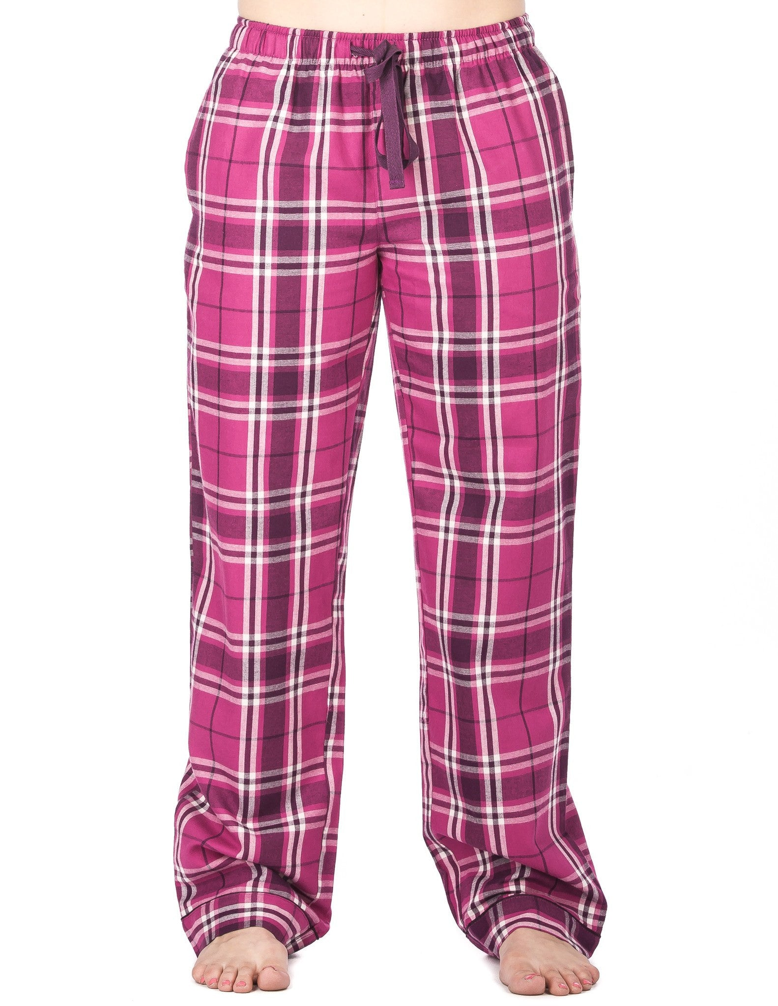 Relaxed Fit Womens Premium 100% Cotton Flannel Lounge Pants