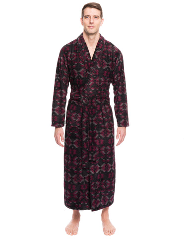 Men's Premium Microfleece Long Robe