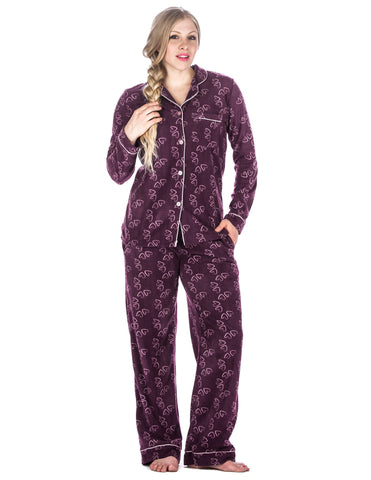 Women's Microfleece Pajama Sleepwear Set