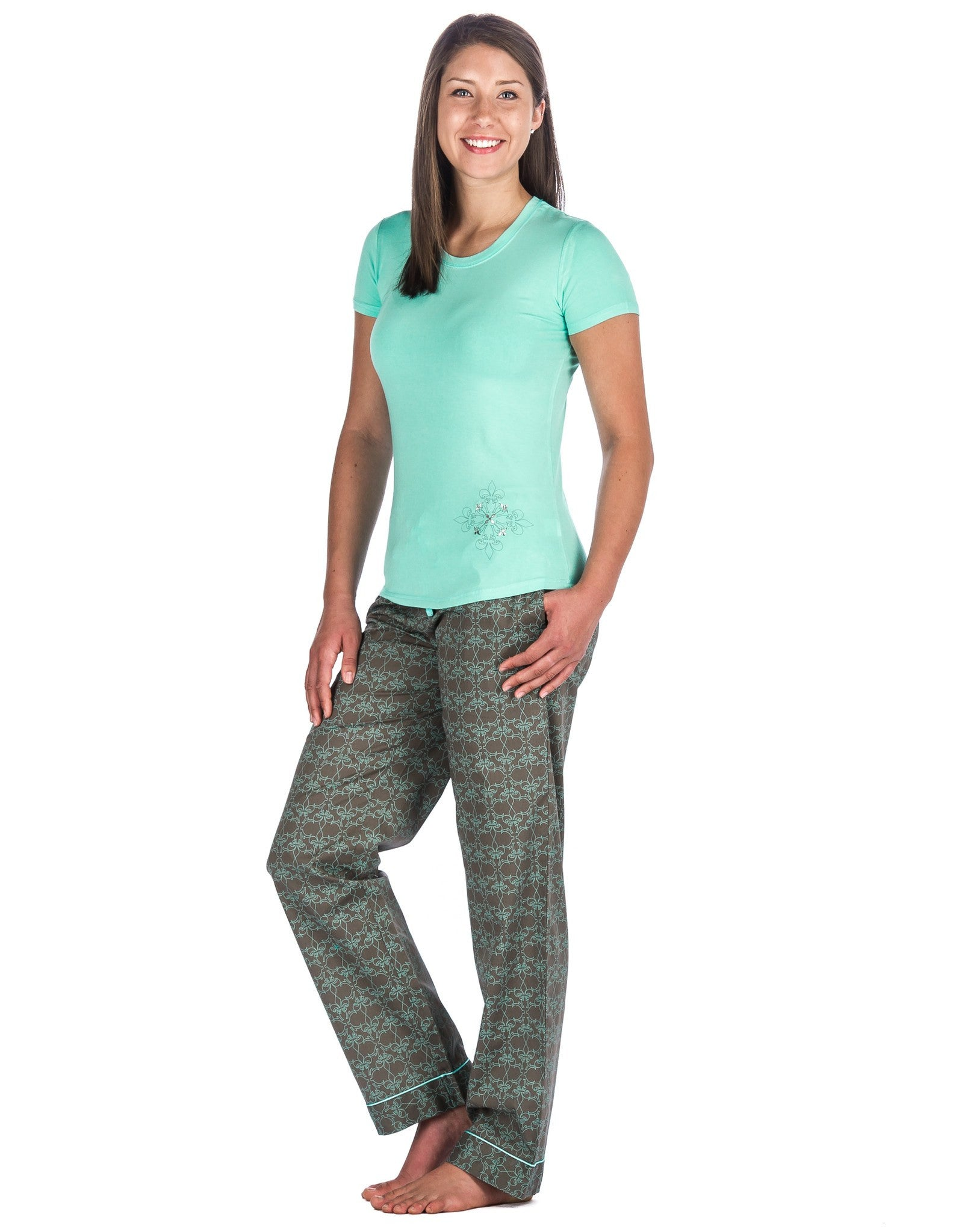 Women's Premium Cotton Poplin Lounge/Sleepwear Set