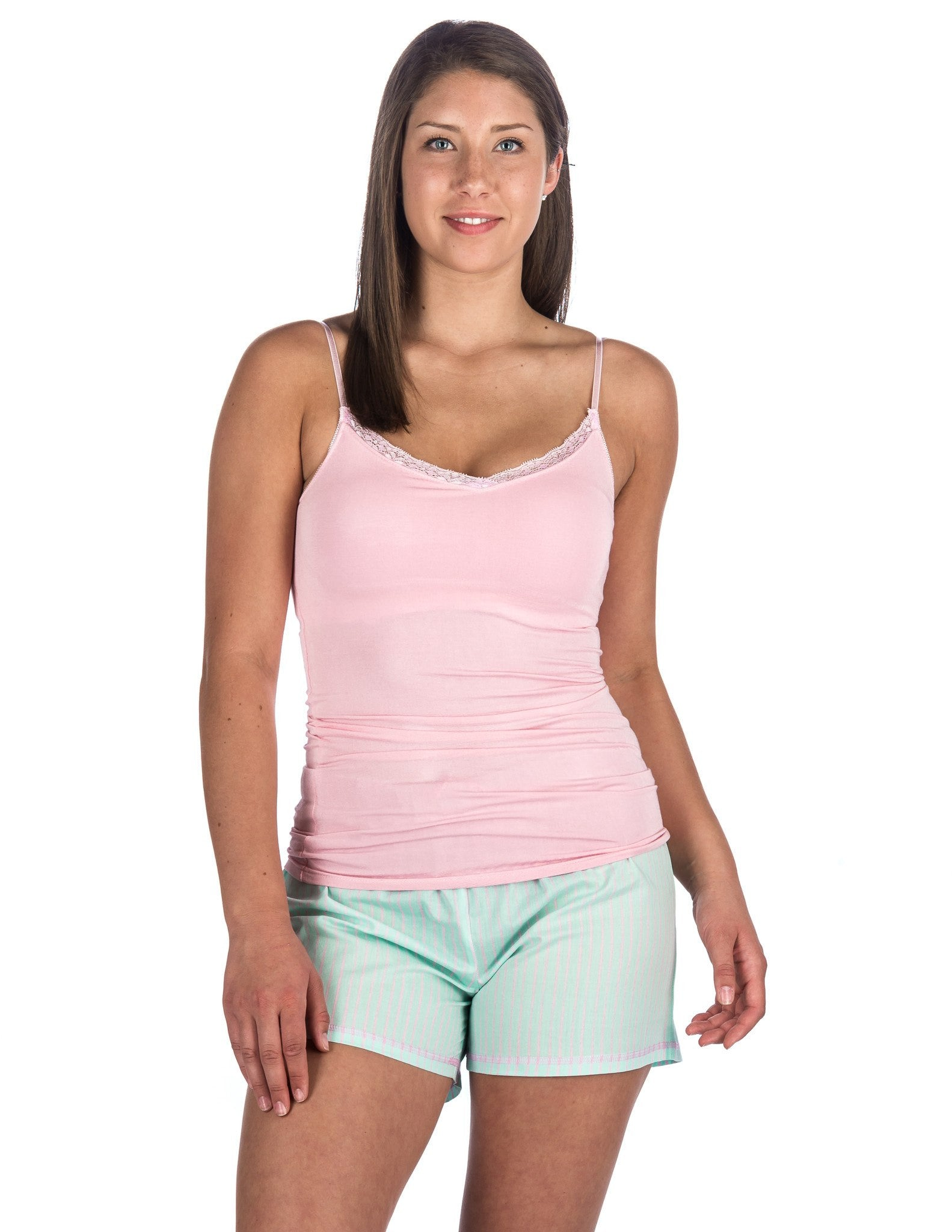 Women's Premium Cotton Poplin Shorts and Cami Sleep Set