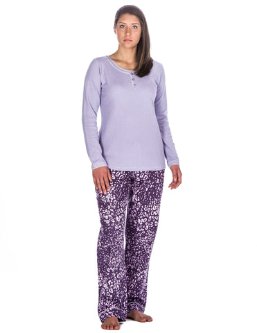 Women's 100% Cotton Flannel Lounge Set