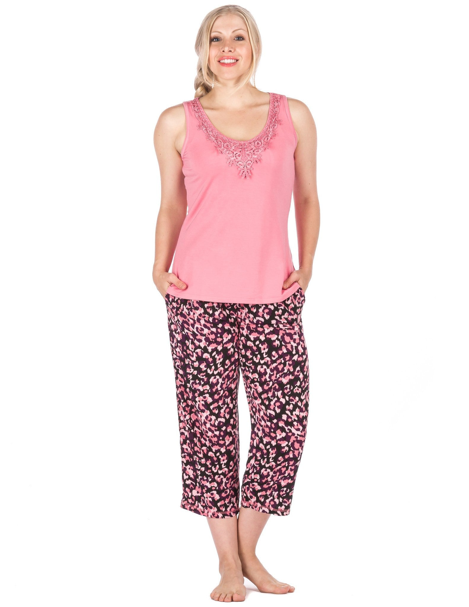 Women's Cool Breeze Woven Capri Lounge Set