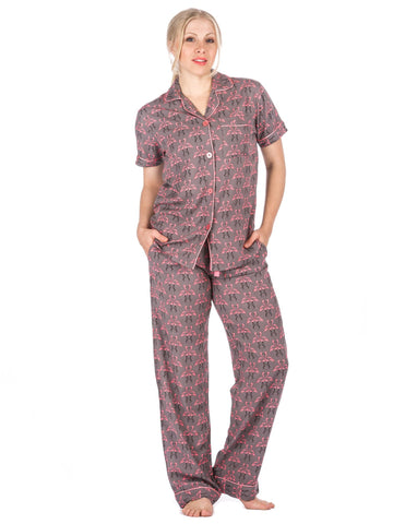 Women s Cool Breeze Woven Short Sleeve Pajama Set. 3 colors available. Noble  Mount 547c28a5e