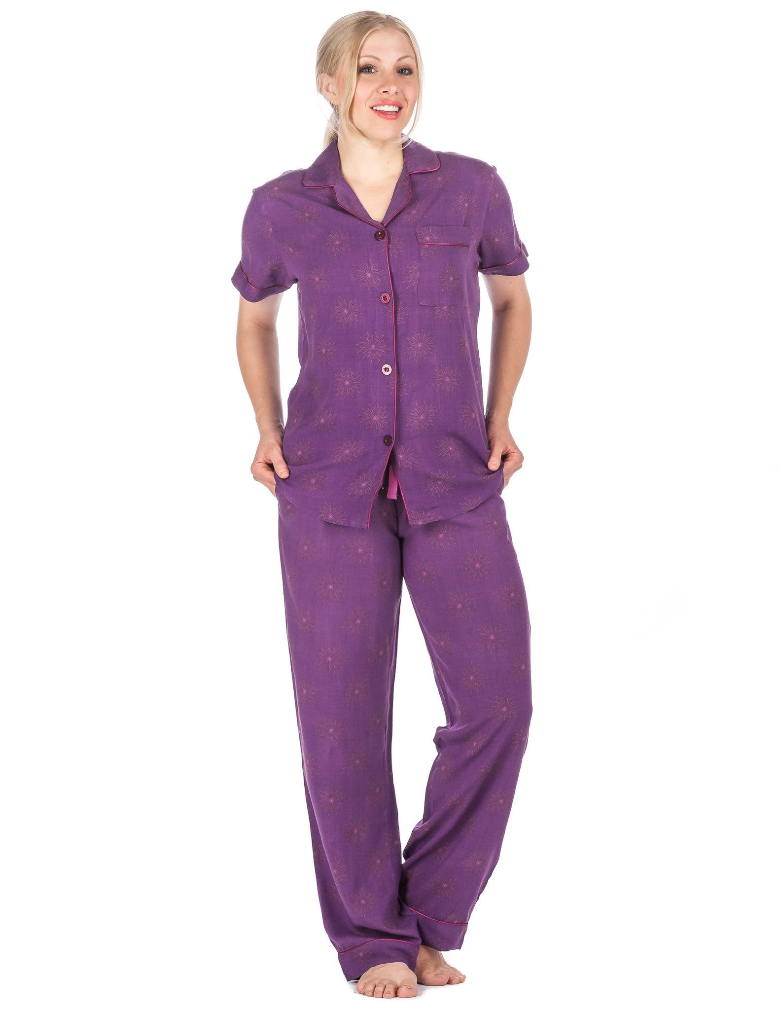 Women's Cool Breeze Woven Short Sleeve Pajama Set