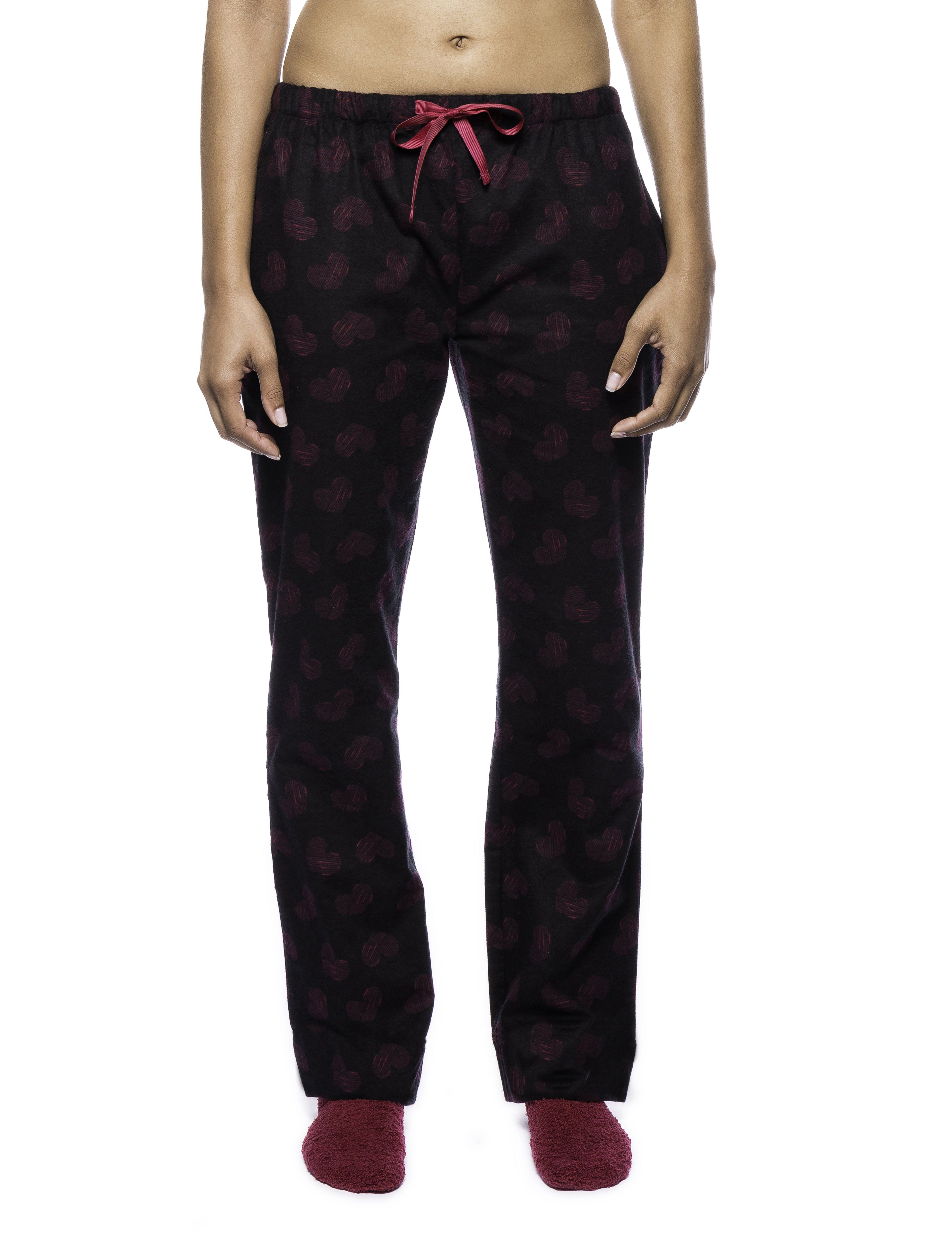 Womens Premium 100% Cotton Flannel Lounge Pants with Matching Socks