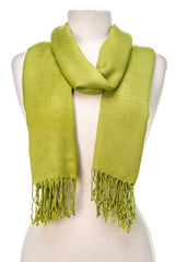"Gift Packaged Olive N Figs"" Solid Plain Pashmina Stole/Scarf/Wrap with a Complimentary Gift - 25 Vibrant Colors"""