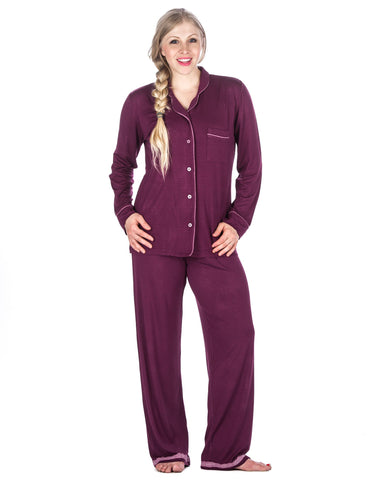 Women s Cool Knit Pajama Set. 2 colors available. Noble Mount ef412a492
