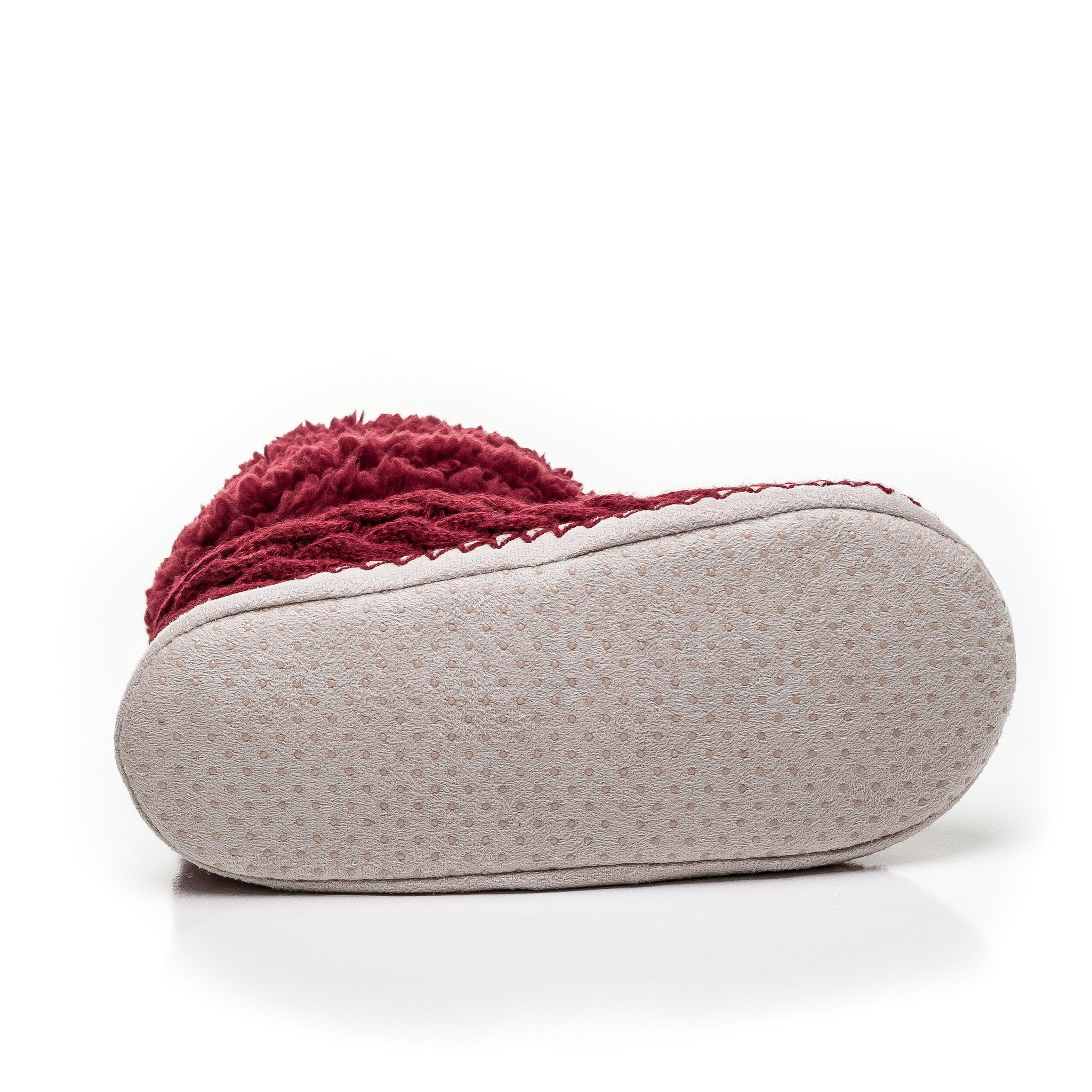 57ee051cad1 Women s Fuzzy Delight Cable Knit Indoor Short Boot Slippers Red Red