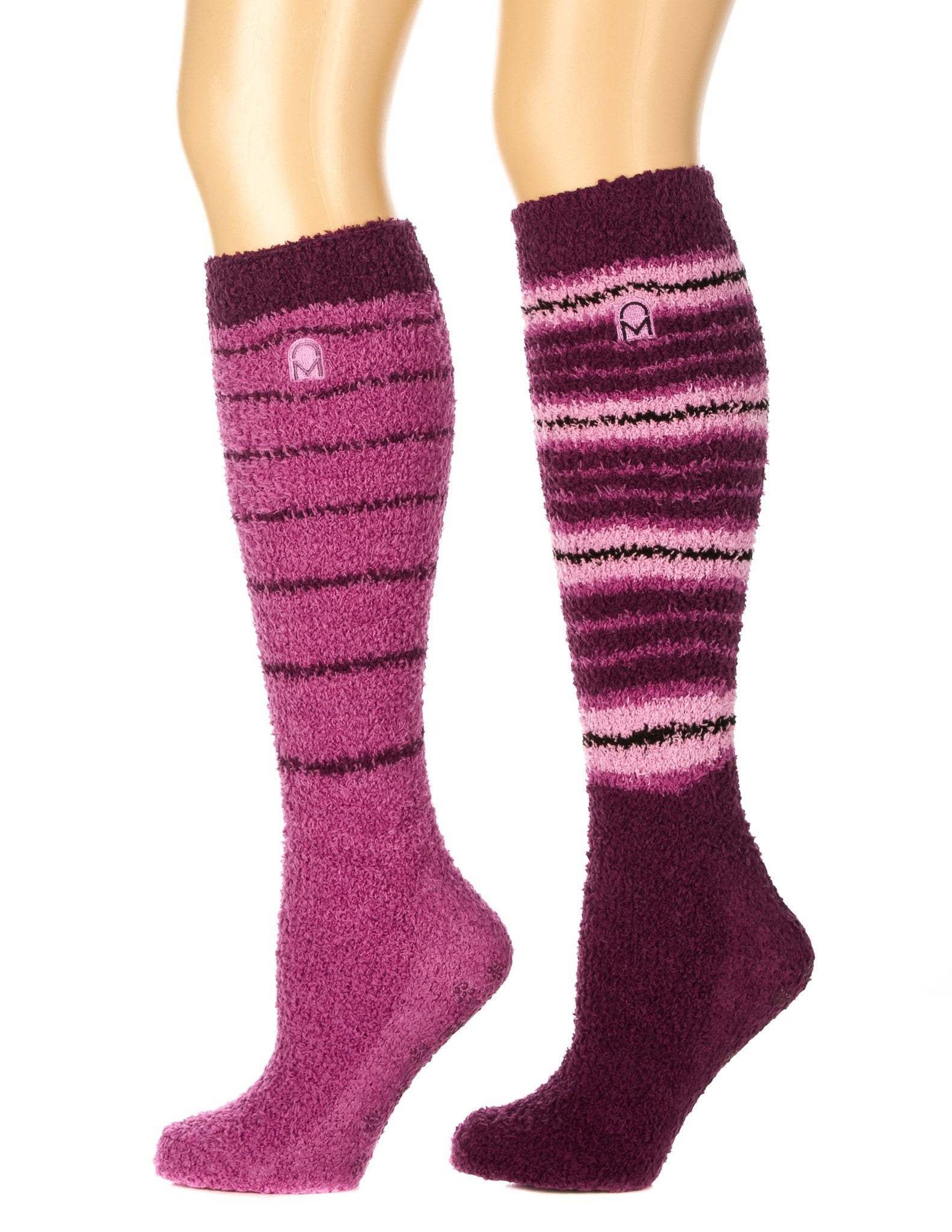 Women's (2 Pairs) Soft Anti-Skid Fuzzy Winter Knee High Socks