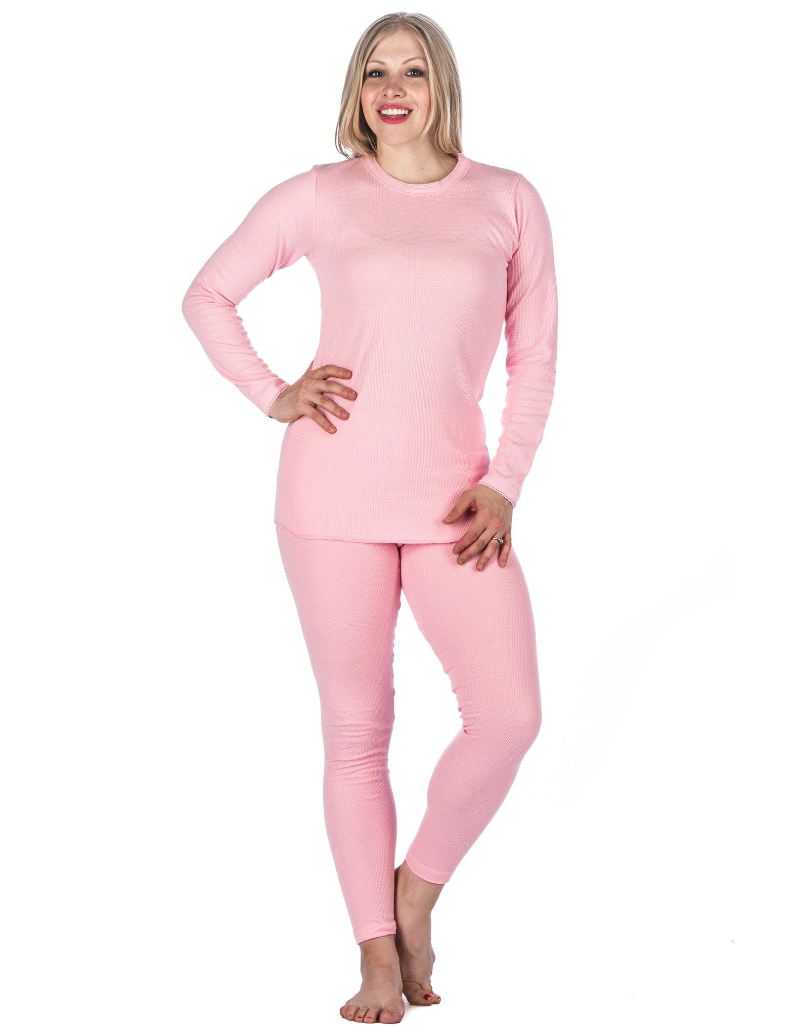 Women's Extreme Cold Waffle Knit Thermal Top and Bottom Set