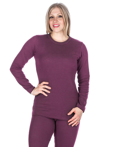 Women's Classic Waffle Knit Thermal Crew Top