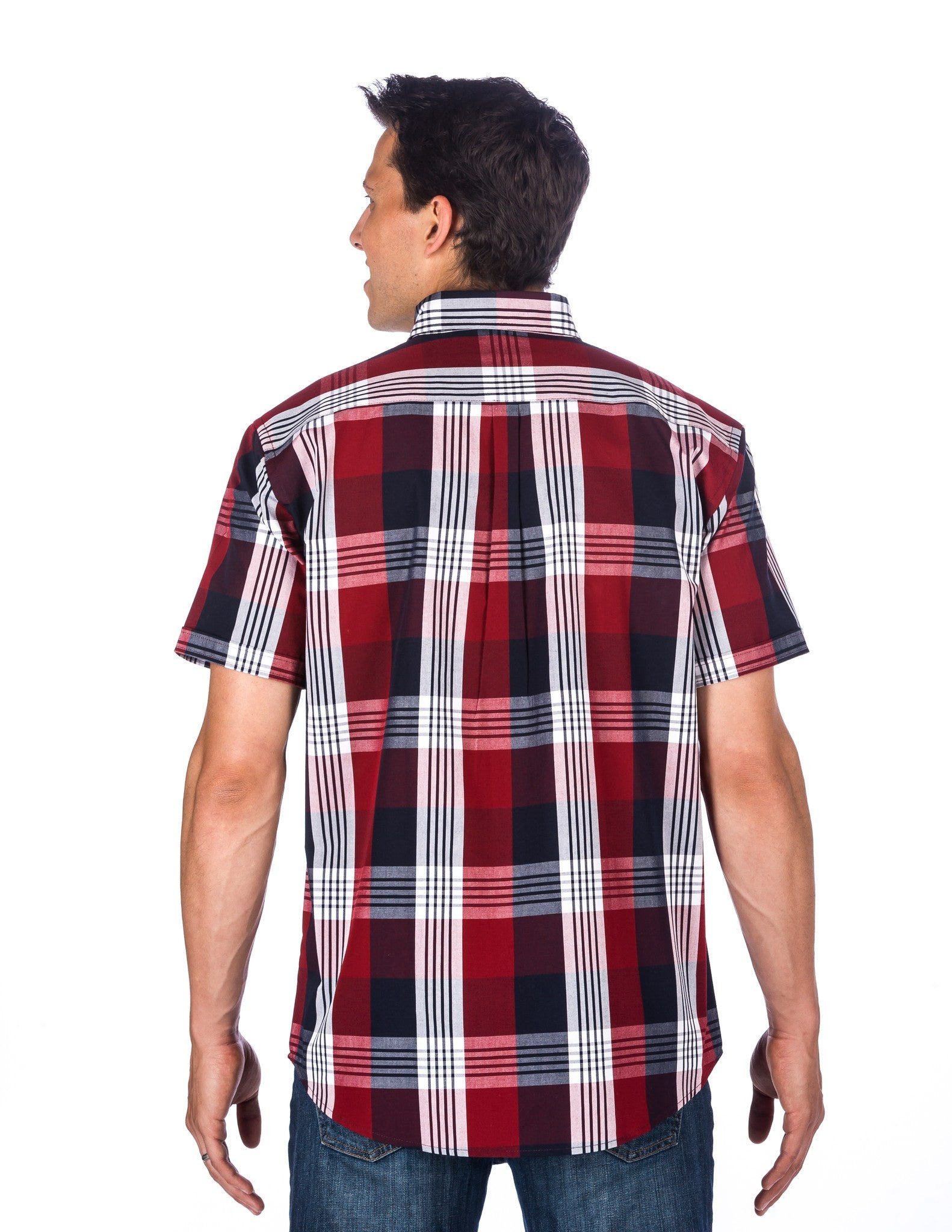 Stripe Plaid Red/Navy