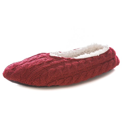 Women's Cable Knit Indoor Ballet Slippers
