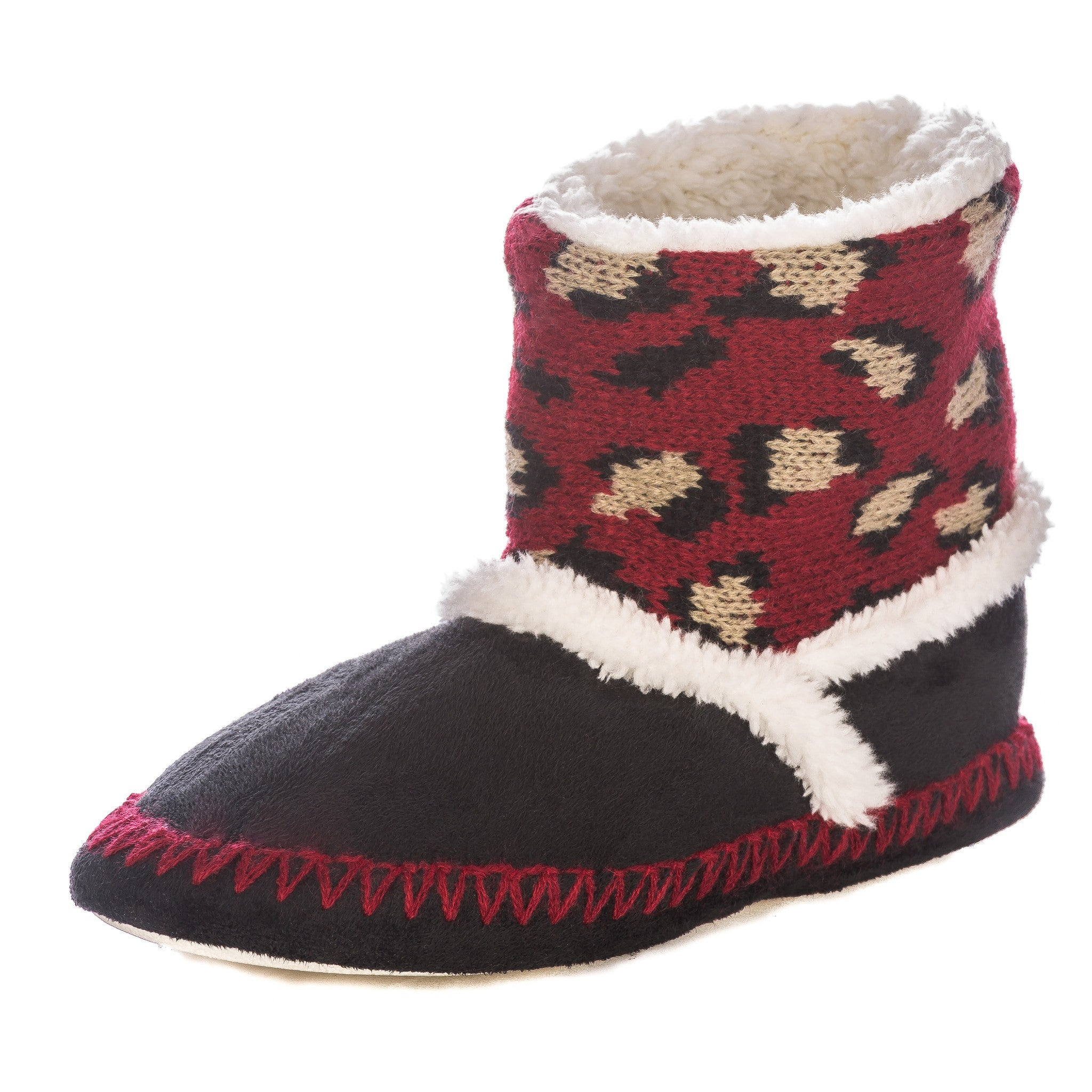 Women's Wildside Leopard Print Indoor Short Boot Slippers