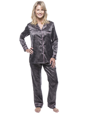 4df50283c2d5a Women's Classic Satin Pajama Set. 9 colors available. Noble Mount