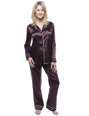 78f3ff42a6 Women's Classic Satin Pajama Set. 9 colors available