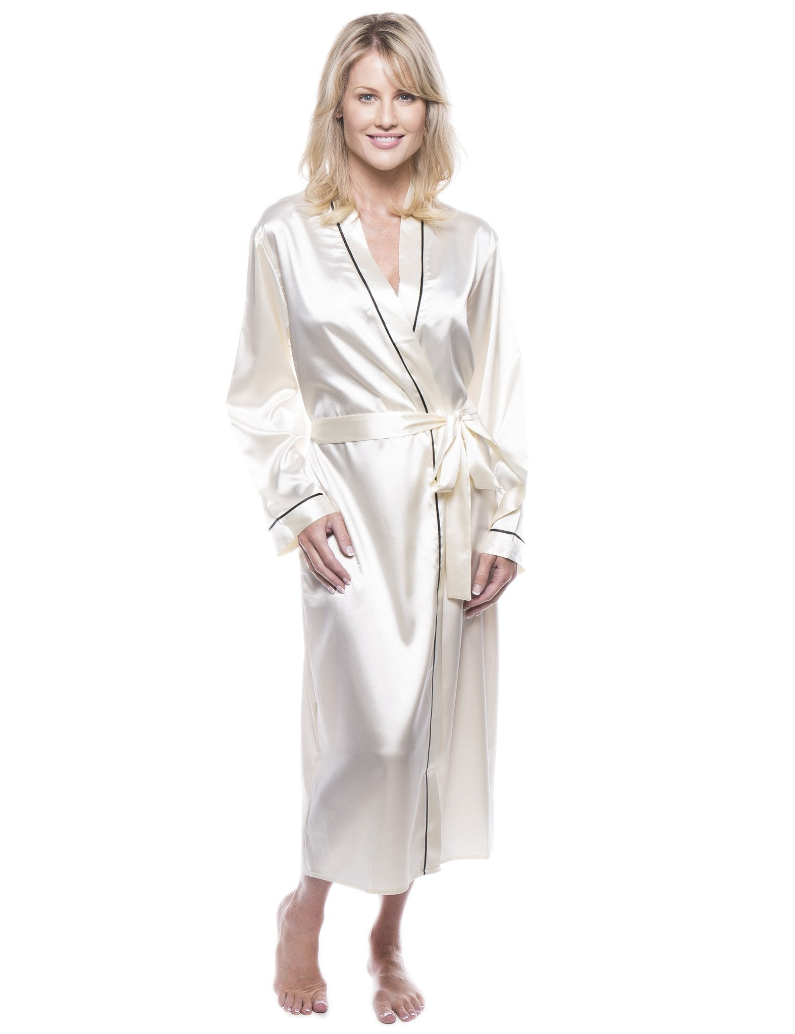49562184930ca Women's Classic Satin Robe - Cream. Women